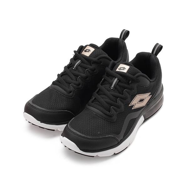 LOTTO FLUX 避震氣墊跑鞋 黑 LT0070 女鞋 鞋全家福