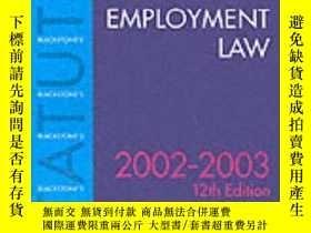 二手書博民逛書店Statutes罕見On Employment Law (blackstone s Statute Book Se