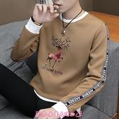 長袖T恤 加絨男士冬秋裝上衣服青年外套潮流衛衣保暖秋衣打底衫 - 小衣里大購物