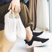 樂福鞋 豆豆鞋帆布鞋男士布鞋懶人鞋男韓版潮鞋一腳蹬原宿休閒鞋 唯伊時尚