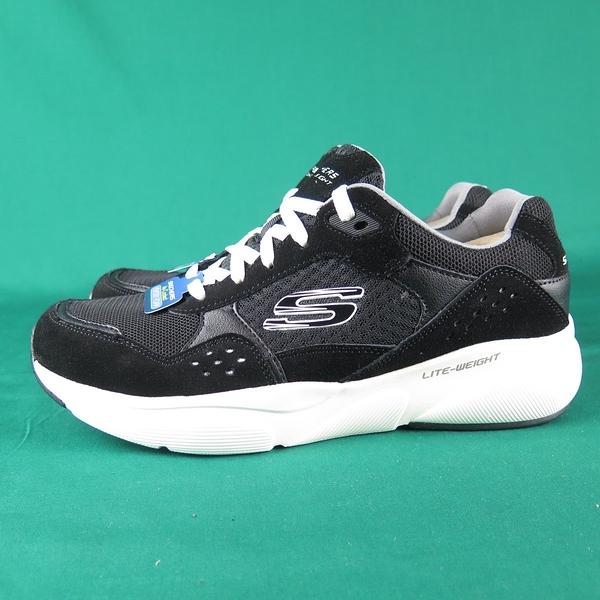 Skechers MERIDIAN OSTWACC 休閒鞋 52952BKW 黑 男款 麂皮拼接【iSport愛運動】