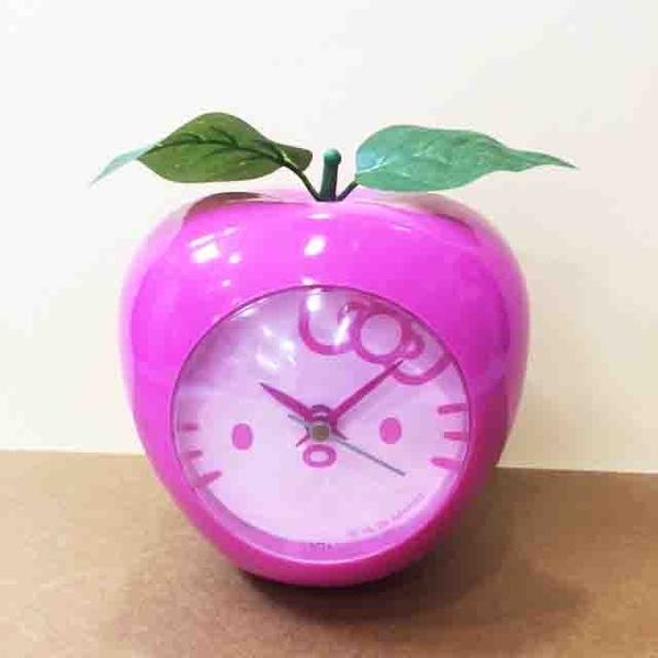【震撼精品百貨】Hello Kitty 凱蒂貓~鬧鐘~蘋果造型