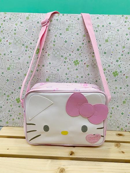 【震撼精品百貨】Hello Kitty_凱蒂貓~KITTY斜背包-粉大頭#22038
