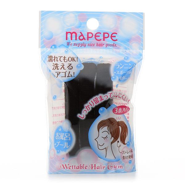 Mapepe 無縫彈力髮圈(黑) 3入  ◇iKIREI