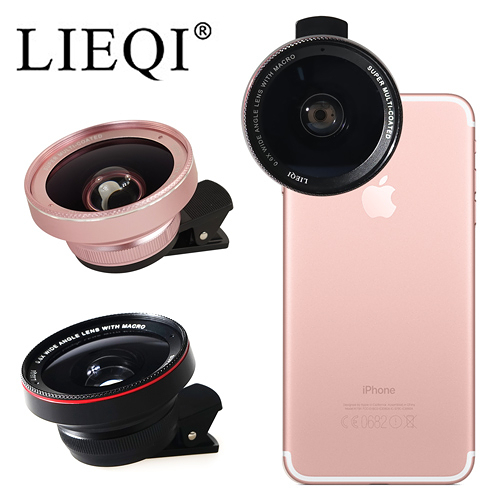 ○LIEQI 雙鏡頭手機專用新設計 大廣角+微距 鏡頭○APPLE iPhone7 Plus Asus zenfone3 Zoom 附單反鏡頭防塵蓋