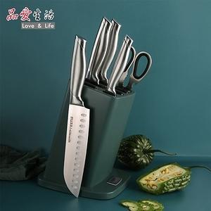 品愛生活 TEENS豪華經典廚房不鏽鋼刀具組7件套