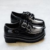復古皮鞋英倫風ins小皮鞋女鞋復古學生韓版百搭ulzzang2021春季新款單鞋子 JUST M