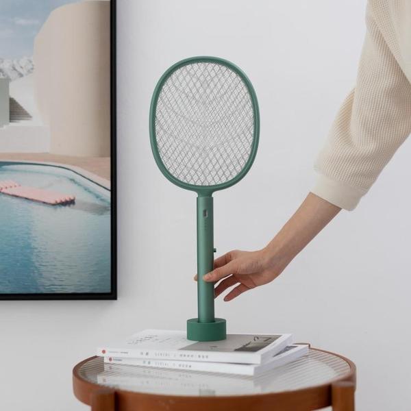電蚊拍 創意鋁合金電蚊拍家用二合一led紫光誘蚊立式滅蚊器usb充電捕蠅器