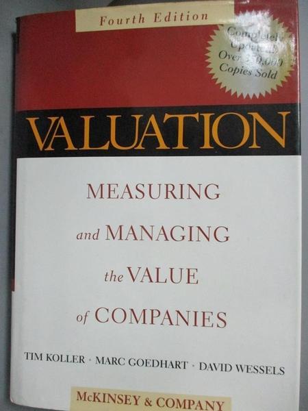 【書寶二手書T1/大學商學_QIO】Valuation: Measuring and Managing the Value of Companies, 4th Edition_McKinsey