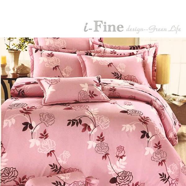 【免運】精梳棉 雙人 薄床包舖棉兩用被套組 台灣精製 ~玫瑰之戀/2色~ i-Fine艾芳生活