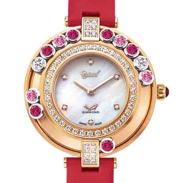【Ogival愛其華】流星系列-34mm流光瀲灩珠寶錶-紅 380-45DLR