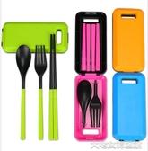 戶外餐具折疊筷子便攜可伸縮式勺子套裝迷你旅行神器旅遊用品必備戶外餐具 大宅女韓國館