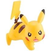 〔小禮堂〕神奇寶貝Pokémon 皮卡丘 迷你塑膠公仔玩具《黃.趴姿》寶可夢公仔.模型 4904810-96844