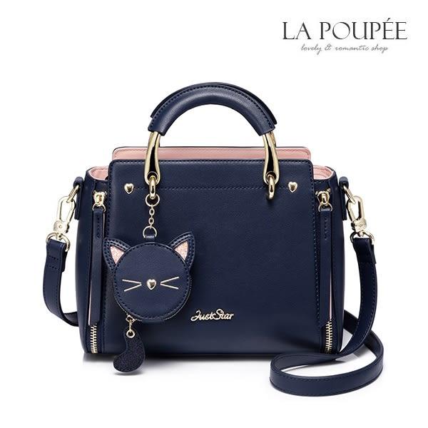 手提包 喵物語貓咪零錢包掛飾方包-La Poupee樂芙比質感包飾 (預購+好禮)