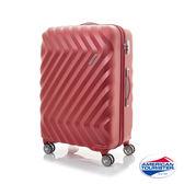 AT美國旅行者 28吋 ZAVIS 立體閃電防刮耐磨飛機輪 TSA硬殼行李箱 (紅織紋)
