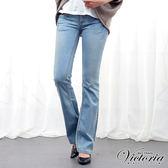 Victoria 低腰鉚釘靴型-女-淺藍