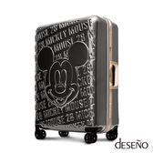 Deseno Disney 迪士尼 MICKEY 米奇 經典復刻 浮雕 多色 鋁框 旅行箱 28吋 行李箱 D2663