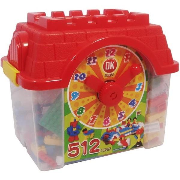 《OK積木-512》鐘塔造型創意積木箱 ( 512pcs ) / JOYBUS玩具百貨
