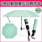 【生活良品】8骨自動摺疊反向晴雨傘-薄荷...