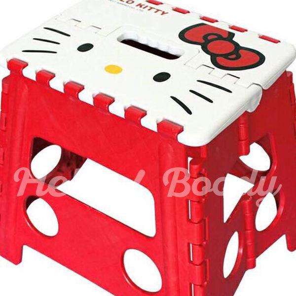 Hello Boody ❤︎正版授權三麗鷗Hello Kitty 大臉造型收納矮凳椅 KT收納椅-大