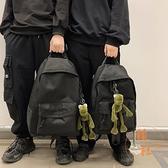 大容量時尚後背包男士雙肩包男生書包【橘社小鎮】