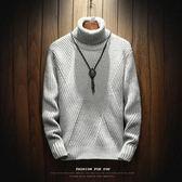 毛衣 高領毛衣男士加厚秋季男裝針織衫長袖韓版潮流個性修身冬季毛線衣
