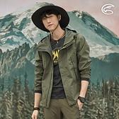 ADISI 男2.5L防水透氣連帽外套AJ2021035 (S-2XL) / 城市綠洲 (超撥水 防風 透濕 防水外套 戶外機能)