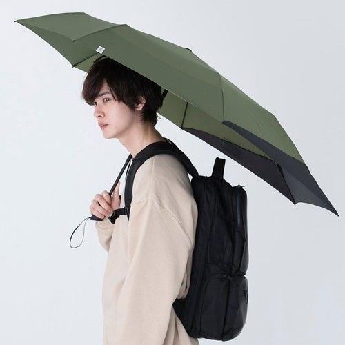 日本Wpc. Folding Umbrella 背保護摺疊傘 MSS-031軍綠色 摺疊/抗UV晴雨傘 附收納袋