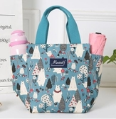 便當包上班族外出帶飯裝飯盒包保溫便當包時尚手提袋子帆布手拎媽咪包包