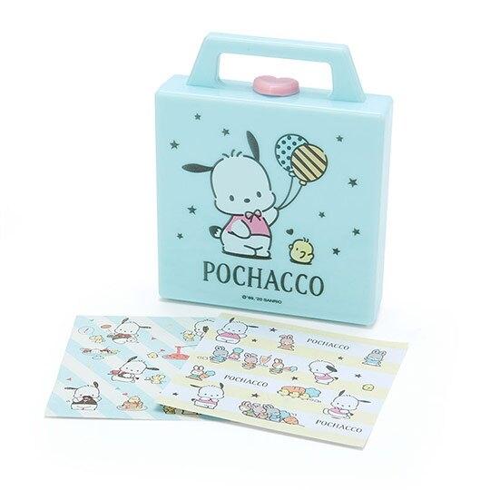 小禮堂 帕恰狗 便條紙組 附手提收納盒 名片盒 小物收納 (藍綠 氣球) 4550337-54281
