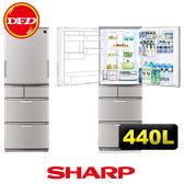 SHARP 夏普 SJ-XW44BT-N 440公升 變頻左右開 晶燦銀 日製 公貨 ※運費另計(需加購)