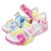 (B5)SKECHERS 女鞋 D'LITES 2.0厚底涼鞋 健走鞋 防水鞋 111068MLT 炫彩白 [陽光樂活]