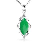 晶檔時尚女款綠玉髓吊墜 水晶項墜浪漫水滴項鏈配飾 正韓飾品 雙十二8折