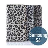 SAMSUNG 三星 S6 豹紋 皮套 側翻 支架 插卡 保護套 手機套 手機殼 保護殼