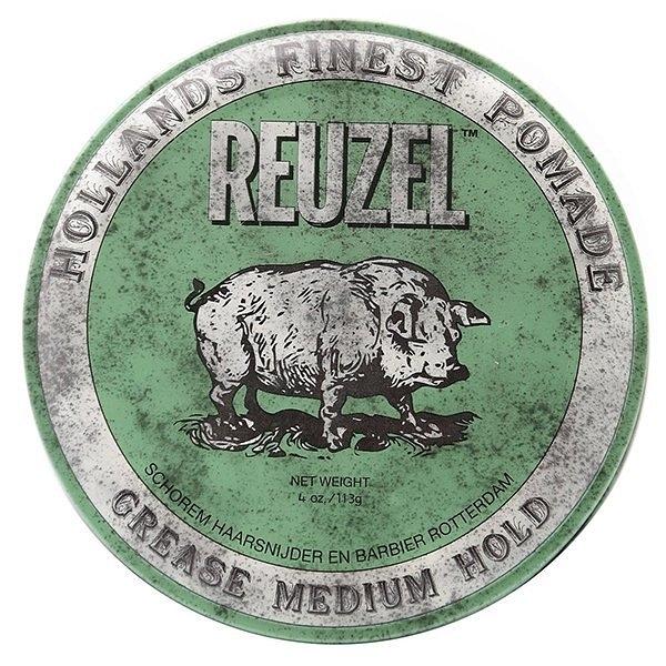 REUZEL Green Pomade Grease 綠豬 中強 水洗式 髮油 113G【七三七香水精品坊】