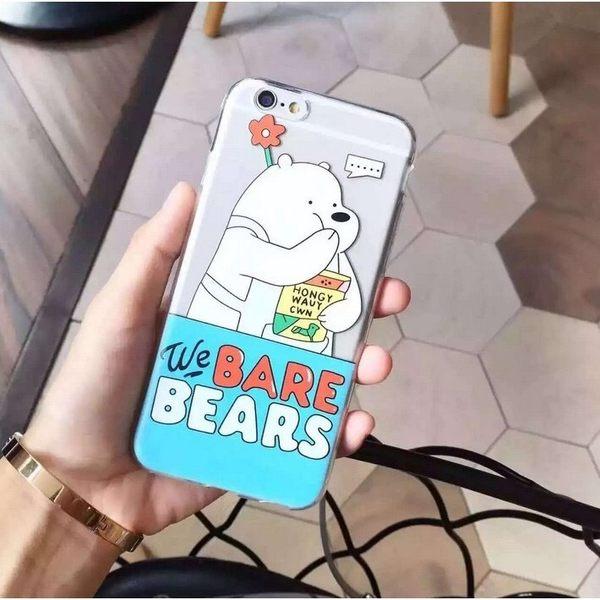 iPhone手機殼 吃貨熊熊三人組 TPU透明軟殼全包 蘋果iPhone6/iPhone5手機殼