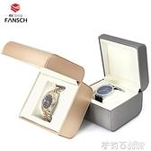 高級香檳色手錶盒 高檔手錬盒 定制手鐲盒 品牌手錶盒子私人定制 茱莉亞