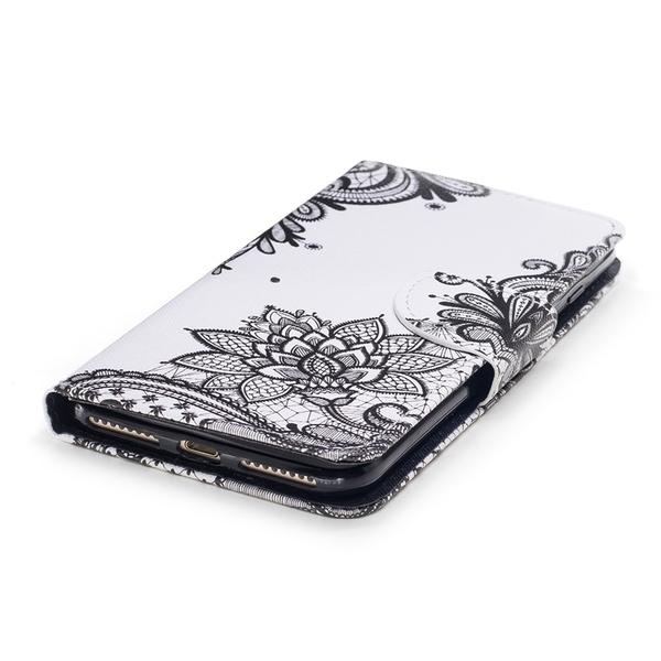 三星S9+ S8+ A6+ A8 A8+ 2018 Note9 保護殼 皮套全包邊保護套 蕾絲花紋圖案 磁吸翻蓋皮套
