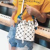 包包女夏季上新女包水桶包單肩斜背包手提包歐美潮百搭小包包 夢露時尚女裝