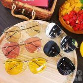墨鏡 夏季新款墨鏡簡約大框韓版潮流透明顯臉小男女太陽鏡眼鏡防曬墨鏡  『優尚良品』