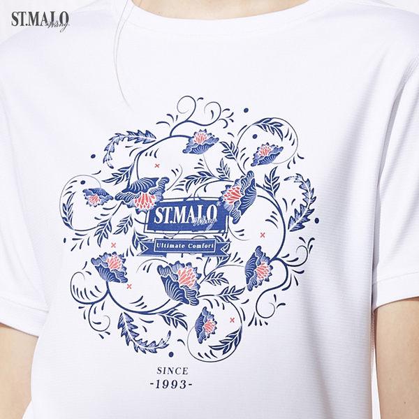 【ST.MALO】台灣製精刻瓷繪咖啡紗女上衣-1840WT-晶亮白
