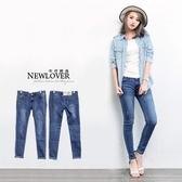 丹寧窄管褲NEWLOVER牛仔時尚【166-6826】丹寧基本款顯瘦刮衡窄管牛仔褲 S-XL