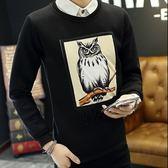 長袖上衣打底加絨-精美質感新穎設計男T恤2款3色72ad20[巴黎精品]
