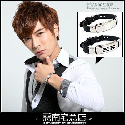 惡南宅急店【0037B】西德316L手錶設計『鈦鋼錶帶式手環』可當情侶對鍊。單款價