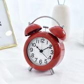 迷你小鬧鐘創意學生可愛韓版女孩簡約靜音臥室床頭兒童夜光臺鐘錶