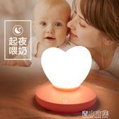 小夜燈 充電小夜燈泡嬰兒喂奶臥室小燈睡眠觸摸床頭插電少女節能臺燈 青山市集