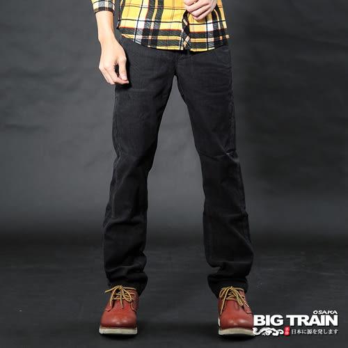 BIG TRAIN 黑色斜插袋絨布褲-男-黑