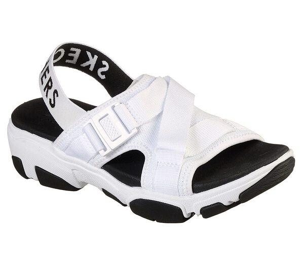 Skechers Daddy-O-Dibs [163051WBK] 女鞋 運動 休閒 透氣 涼鞋 夏天 穿搭 減震 白黑
