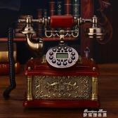 老式民國實木旋轉盤機仿古復古撥號中式古董家用座機 麥琪精品屋