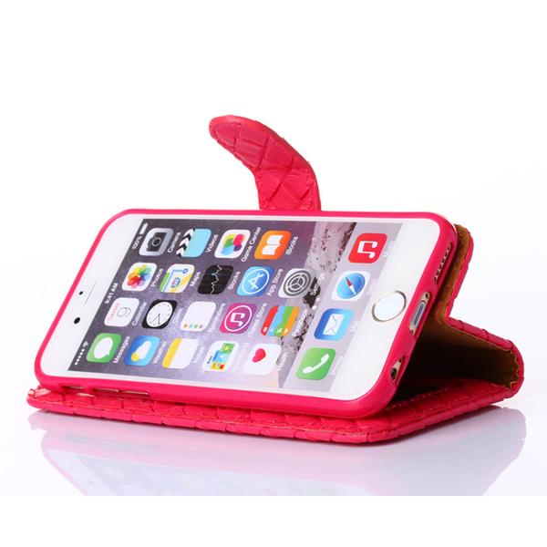 Outlet特賣Apple iPhone 7/iPhone 8共用時尚編織紋手機皮套 特價出清香檳金專區3  $99